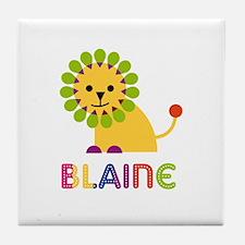 Blaine Loves Lions Tile Coaster