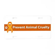 Prevent Animal Cruelty Aluminum License Plate
