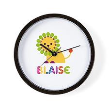 Blaise Loves Lions Wall Clock