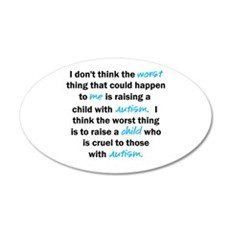 I don't think the worst (Autism) Wall Decal