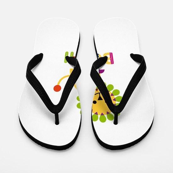 Bodhi Loves Lions Flip Flops