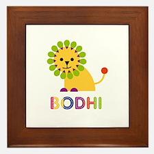 Bodhi Loves Lions Framed Tile