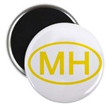MH Oval - Marshall Islands Magnet