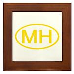 MH Oval - Marshall Islands Framed Tile