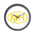 MH Oval - Marshall Islands Wall Clock