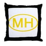 MH Oval - Marshall Islands Throw Pillow