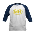 MH Oval - Marshall Islands Kids Baseball Jersey