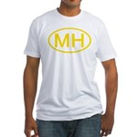 MH Oval - Marshall Islands Fitted T-Shirt