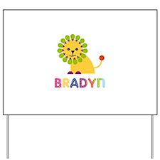 Bradyn Loves Lions Yard Sign