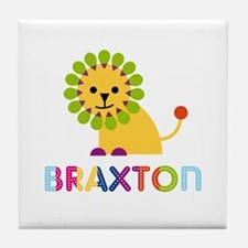 Braxton Loves Lions Tile Coaster