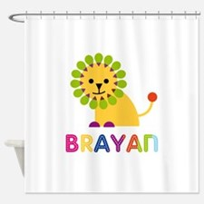 Brayan Loves Lions Shower Curtain
