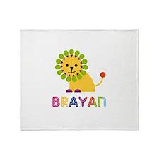 Brayan Loves Lions Throw Blanket