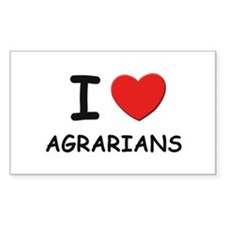 I love agrarians Rectangle Decal