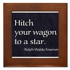 Hitch your wagon to a star Framed Tile