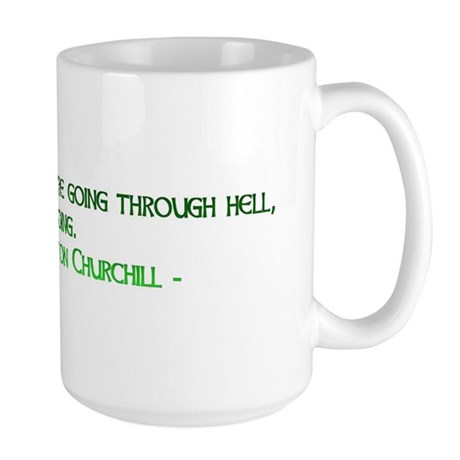 Large Mug with Winston Churchill quote