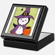 Happy Halloween Penguin cutie Keepsake Box