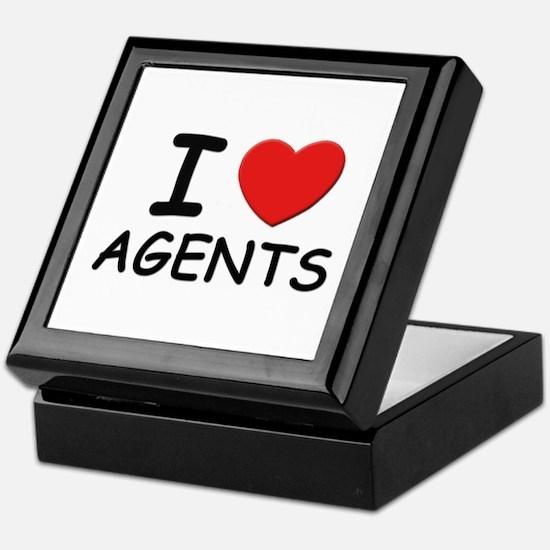 I love agents Keepsake Box