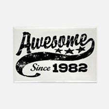 Awesome Since 1982 Rectangle Magnet