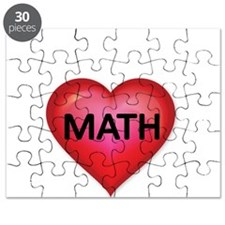 Red heart with Math Puzzle
