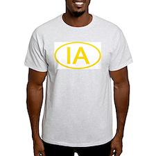 IA Oval - Iowa Ash Grey T-Shirt