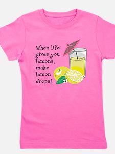 Lemon Drop Martini Girl's Tee
