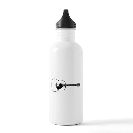Acoustic Guitar t-shirt Water Bottle
