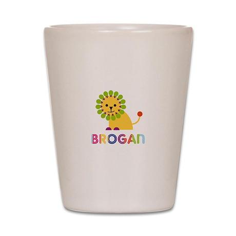 Brogan Loves Lions Shot Glass