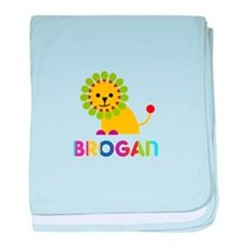 Brogan Loves Lions baby blanket