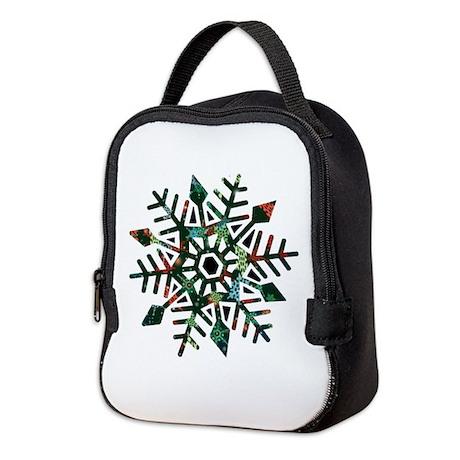 Dark Snowflake Neoprene Lunch Bag