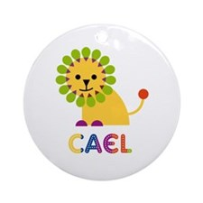 Cael Loves Lions Ornament (Round)
