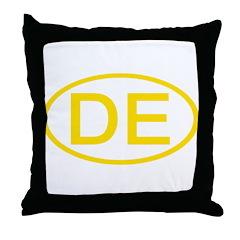 DE Oval - Delaware Throw Pillow