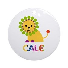 Cale Loves Lions Ornament (Round)