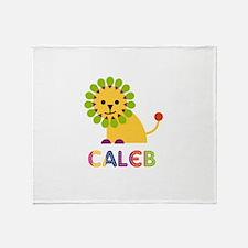 Caleb Loves Lions Throw Blanket