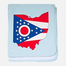 Ohio Flag baby blanket