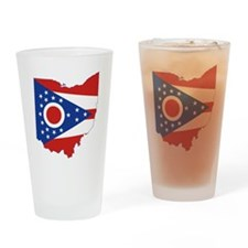 Ohio Flag Drinking Glass