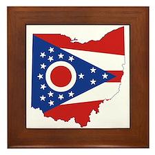 Ohio Flag Framed Tile