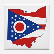 Ohio Flag Tile Coaster