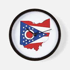 Ohio Flag Wall Clock