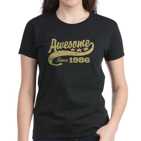 Awesome Since 1986 Women's Dark T-Shirt