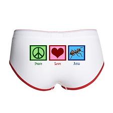 Peace Love Ants Women's Boy Brief
