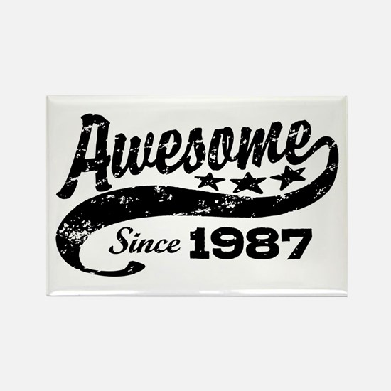 Awesome Since 1987 Rectangle Magnet
