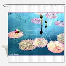 Water Lilies! Nature Photo! Shower Curtain
