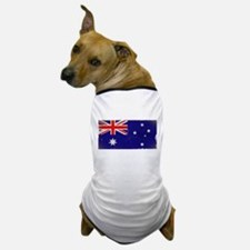antiqued Australian flag Dog T-Shirt