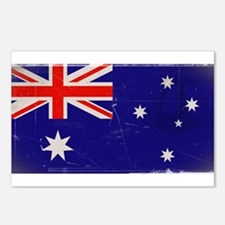 antiqued Australian flag Postcards (Package of 8)