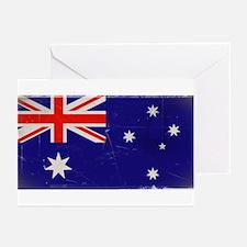 antiqued Australian flag Greeting Cards (Pk of 20)