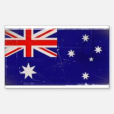 antiqued Australian flag Decal