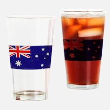 antiqued Australian flag Drinking Glass