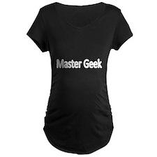 Master Geek-white Maternity T-Shirt