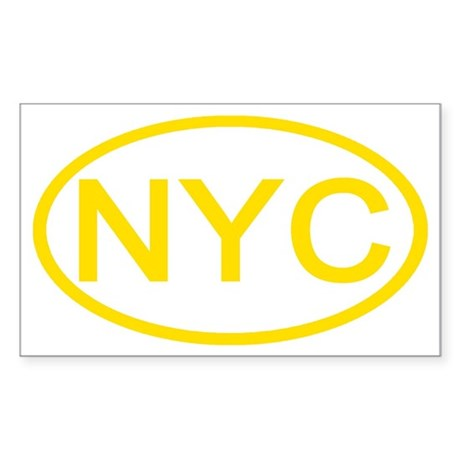 NYC Oval - New York City Rectangle Sticker