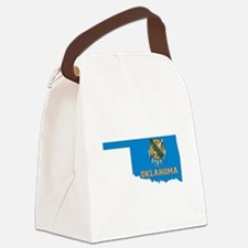 Oklahoma Flag Canvas Lunch Bag